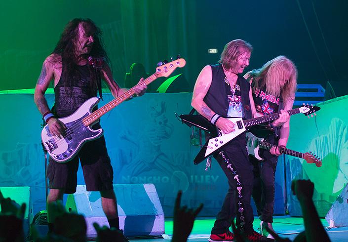 Iron Maiden guitars - Janick Gers, Dave Murray, Steve Harris
