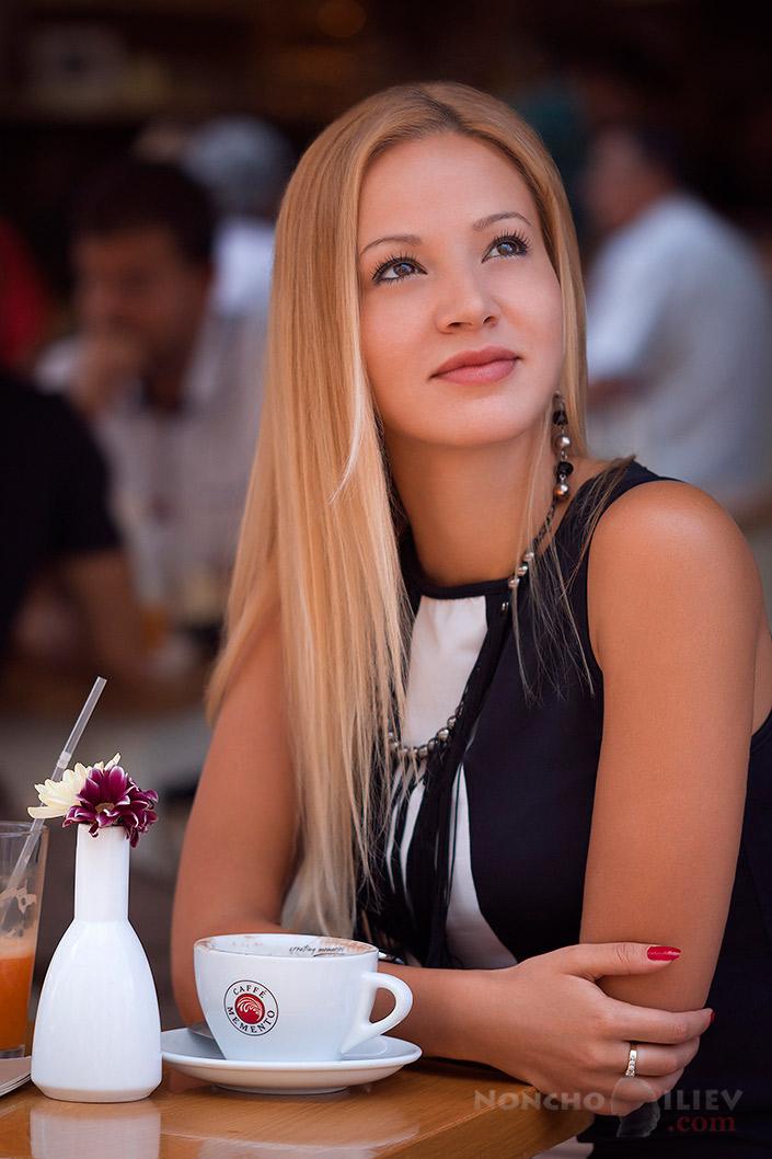 портрет кафе