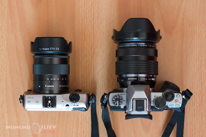 Olympus E-M10 12-40 2.8 ECG- Canon EOS-M