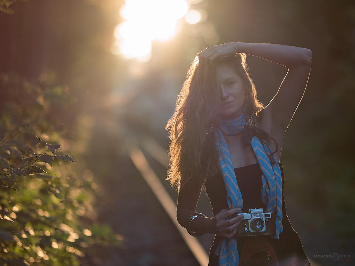 есен портрет с фотоапарат