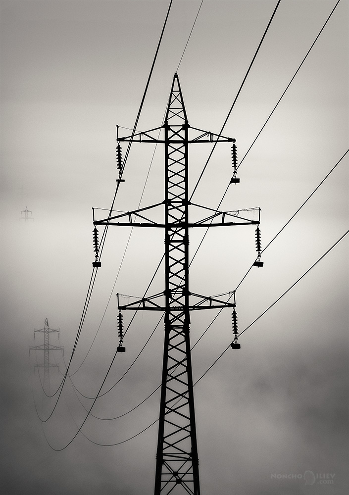 мъгла далекопровод жици