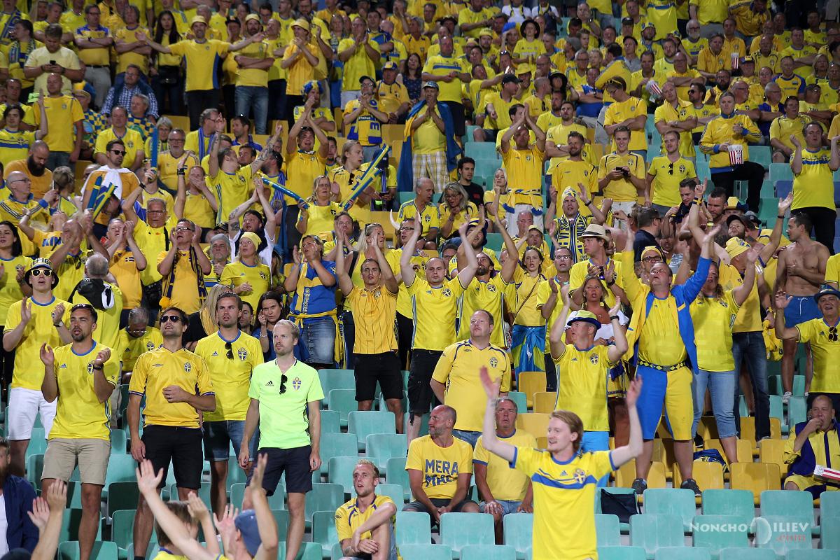 България Швеция фенове